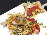 细安抖音铁锹海鲜加盟费用铁锹上菜的海鲜加盟