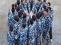深圳大鹏拓展训练团队拓展文化热身活动,共同进退
