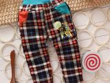 秋季新款男童格子裤 厂家直销韩版中小童童裤  新款童装 外贸原单