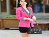 2014春装新款 小西装 女外套韩版 修身西服一粒扣小西装外套