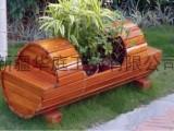 新疆道路花箱华庭美居塑木花箱美观实耐用伊犁花箱生产厂家