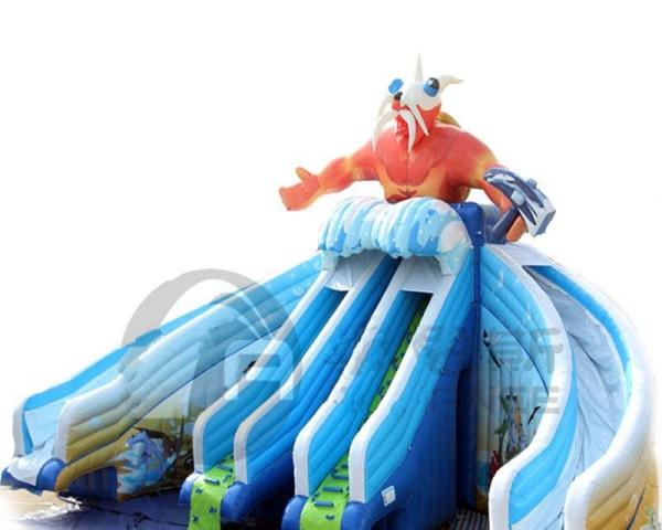 惊爆价惊爆价 冰雪世界移动水上乐园充气水滑梯支架水池赚钱啦