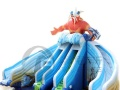 赚钱啦不知道怎么花 冰雪世界移动水上乐园 充气水滑梯支架水池