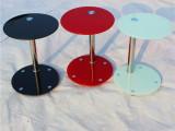小户型钢化玻璃小茶几时尚简约圆形桌子沙发边几角几电话几小圆桌