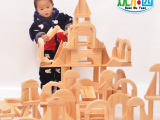 欢木园幼儿园构建区398粒超大积木搭建木制实心厂家销售益智玩具