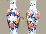 景德镇陶瓷器落地大花瓶 纯手彩色牡丹花开富贵图 客厅装饰摆件