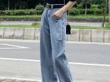 工厂直销几元牛仔裤清仓处理摆地摊货源大码女装牛仔裤