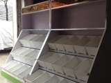 常州零食货架定做,散装休闲食品展示柜,食