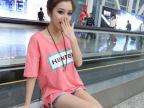 2014新款韩版女装印花短袖t恤女针织打底衫 杂款批发