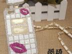 时尚创意香水型镶钻口红Iphone 4/5保护壳 时尚苹果保护套