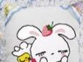 牡丹花瓣方枕 相亲相爱-兔十字绣抱枕