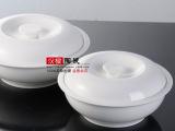 家用特大号陶瓷汤碗镁质瓷品锅宫廷煲有盖汤碗8寸汤碗餐具