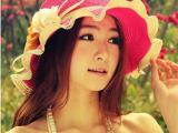 遮阳帽防紫外线帽子 女 夏天时尚沙滩帽 女 出游草帽 太阳帽防晒