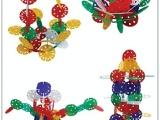 雪花之王积木直径10cm大型雪花片插片插块玩具早教益智积木插塑