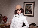 2014冬装新款女装 韩版中长款连帽羽绒服 修身女式羽绒服 批发
