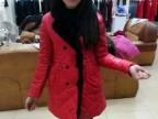 2014年雅琪娜76专柜正品冬装新款PU皮羽绒棉衣外套兔毛拼接毛领