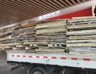 收工地木头木头板木方竹胶板木头箱拖牌