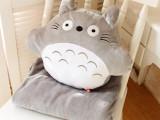 批发直销 卡通龙猫空调毯抱枕被子三用靠垫手捂暖手一件代发
