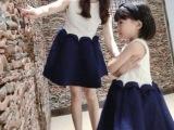 2015亲子装春夏无袖高腰 连衣裙 亲子套装 母女装童装