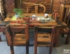 特价老船木茶桌实木仿古茶几茶台功夫泡茶桌客厅中式茶艺桌椅组合