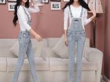 厂家直销秋季新款牛仔背带裤女韩版吊带裤纯棉弹力牛仔背带长裤女