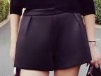2015韩版女装自制新款高腰靴裤女黑色显瘦太空棉加厚热裤裤子批发