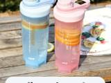 健身塑料水杯搖搖杯便攜時尚隨手杯男女創意防摔奶昔杯子