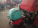 内蒙牧草青贮打捆机自动上料 畜牧养殖饲料青贮打捆包膜机价格