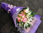 重庆南桥寺附近花店/情人节鲜花速递99枝玫瑰免费送