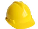 洪安 V字型旋钮式高光度ABS 建筑 领导安全帽(红黄)
