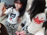 2014春装新款女童装小飞侠个性时尚百搭白色长袖T恤打底衣特价