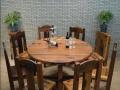 扬州老船木家具批发小户型茶桌椅组合古船木茶台户外阳台茶桌