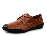 夏季洞洞鞋休闲男鞋真皮镂空男士鞋子外贸皮鞋 厂家直销一件代发