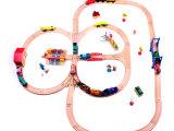 托马斯轨道火车制玩具火车轨道百变轨道磁性木制轨道圆形4号全轨