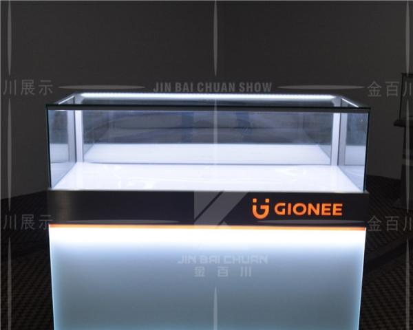 银川手机柜台 新款华为展示柜台 收银台配件柜灯箱维修台体验台