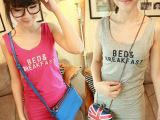 2014夏季新款纯棉弹力吊带打底衫 韩版百搭修身包臀背心 时尚女