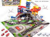 鹏乐宝停车场玩具 豪华航空中心 飞机场大楼亲子益智互动拼装