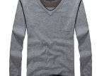 NIAN JEEP吉普盾男士羊毛衫保暖V领打底衫品质男装男毛衣一件代发