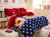 家纺被子冬天加厚保暖单双人卡通法莱绒被芯