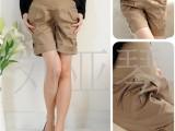 韩版托腹孕妇5分裤 2色3码 一件带发
