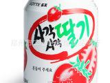 韩国进口 乐天果汁饮料  草莓汁/橙汁