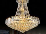 工程灯饰 高档金色电泳水晶灯 餐厅灯饰 饭厅餐吊灯 酒店客厅灯具