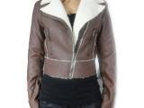 2014秋装新款 韩版女士外贸原单皮衣外套 皮衣批发量大优惠