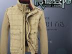 中年商务休闲夹克可脱卸袖子男装拼毛线衫夹克加大码男外套