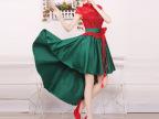 红色婚纱新款2014 礼服 大红晚礼服 抹胸 新娘敬酒服 古典礼服