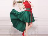 红色婚纱新款2014 礼服 大红晚礼服 抹胸 新娘敬酒服 古典礼