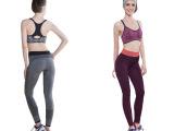 显瘦高弹力女士健身裤瑜伽裤跑步户外速干运动紧身裤收口九分长裤