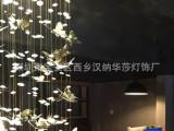 大型非标定制工程灯饰灯具 酒店会所别墅水晶工程吊灯定做