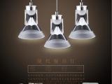 艾瑞光LED餐厅吊灯现代简约 亚克力书房灯饰吧台灯三头餐吊灯具