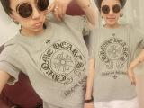 特价2014夏装新款韩版大码胖MM孕妇宽松加肥时尚图案T恤上衣